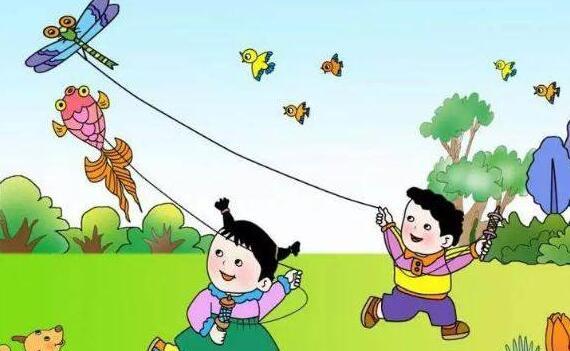 小学一年级作文:放风筝.jpg