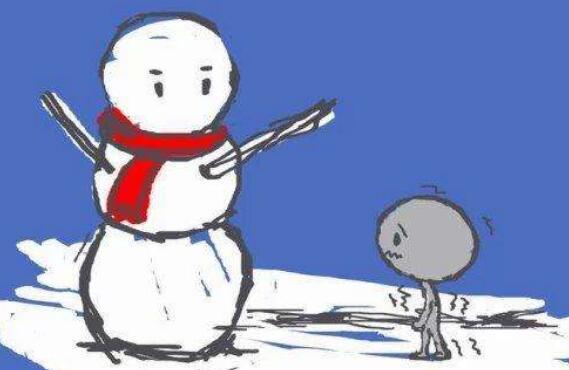 一个雪人,是怎样慢慢消失的