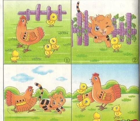 离群的小鸡看图写话200字